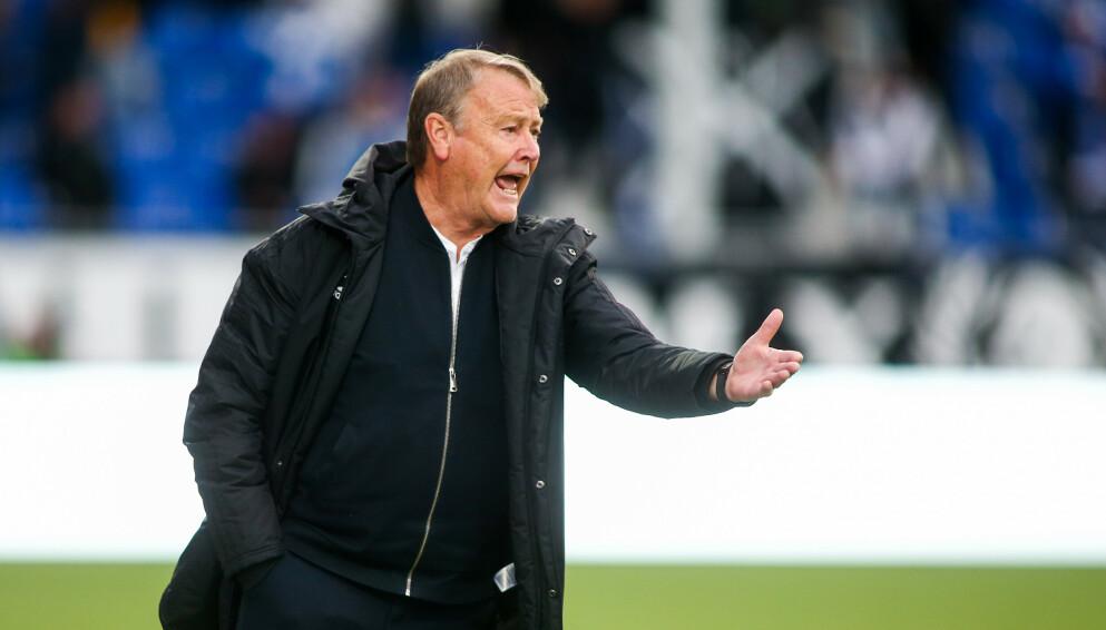TRE POENG: Åge Hareide kan juble for nok en seier. Foto: Christoffer Andersen / NTB