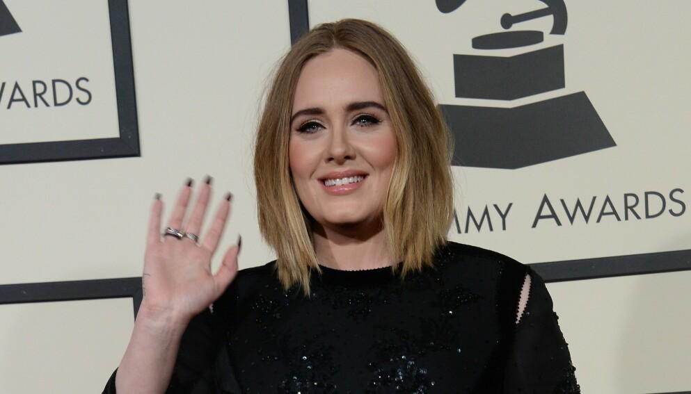 ROMANSERYKTER: Adele har de seineste månedene vært koblet til sportsagenten Rich Paul. Foto: Jim Ruymen / UPI / Shutterstock / NTB