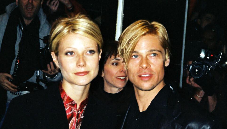 EKSKJÆRESTER: Gwyneth Paltrow og Brad Pitt på premieren av «The Devil's Own» i 1997. Foto: Matt Baron / Shutterstock / NTB