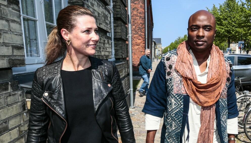 ADSKILT: Märtha Louise og Durek Verrett, her fra workshop i København i 2019, får ikke feire prinsessas bursdag sammen. Foto: Lise Åserud / NTB scanpix