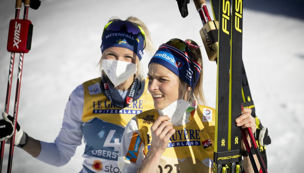 VISER STYRKE: Frida Karlsson viser at hun kan hamle opp med Therese Johaug på flere arenaer. Foto: Bjørn Langsem / Dagbladet