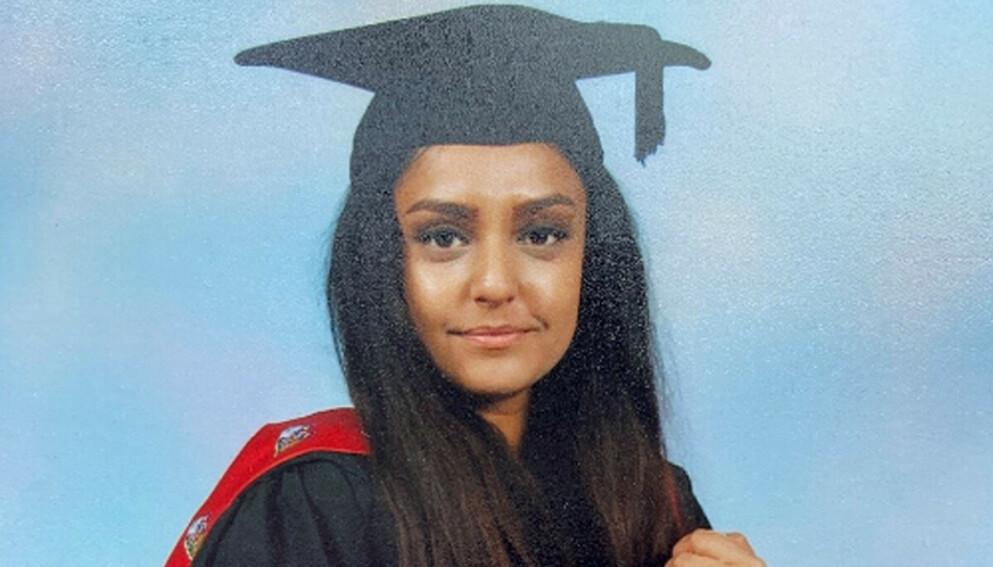 DREPT: Læreren Sabina Nessa antas å ha blitt drept på vei til en pub, hvor hun skulle møte en venn. Foto: Metropolitan Police
