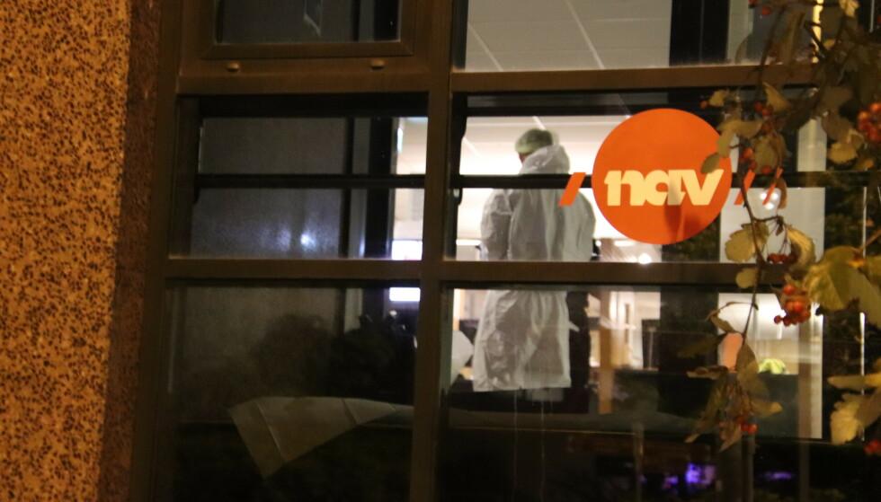 KNIVANGREP: Mandag denne uka ble en kvinnelig Nav-ansatt knivstukket og drept på Nav Årstad i Bergen. Foto: Stian Drake