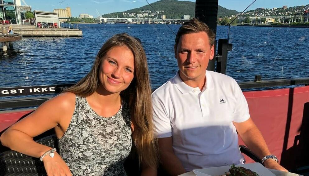 FIKK EN DATTER: Camilla Groth og Joakim Hykkerud er stolte foreldre til ei lita jente. Foto: Skjermdump Instagram.