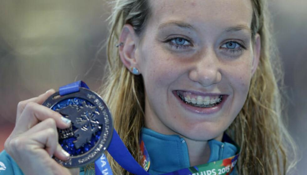 NEDTUR: OL-vinner Madison Wilson er innlagt på sykehus grunnet covid-19. Foto: AP Photos