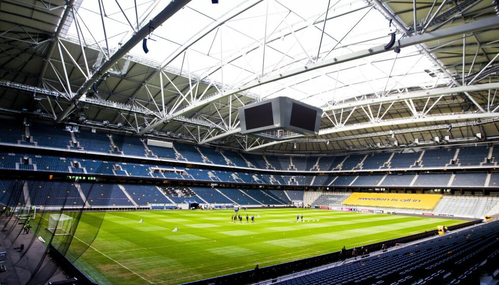 NASJONALARENA: Friends Arena i Stockholm. AIKs hjemmebane. Foto: NTB