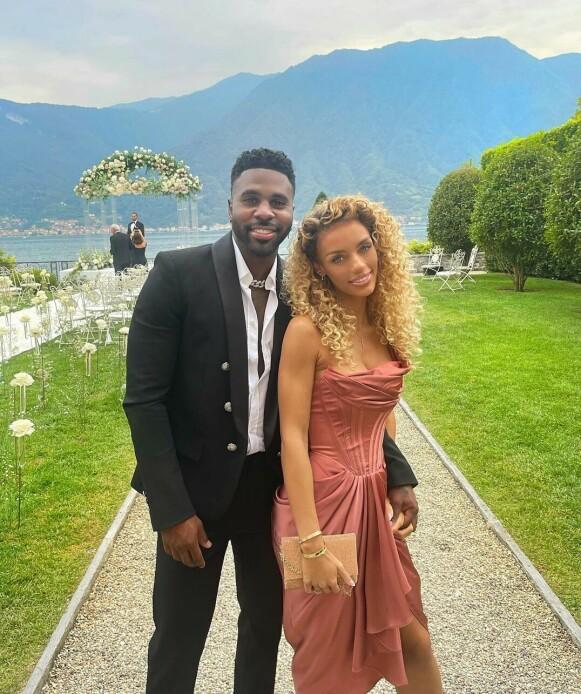 I BRYLLUP: Det ser ut til at eksparet var gjester i et bryllup like før bruddet. Foto: Skjermdump Instagram