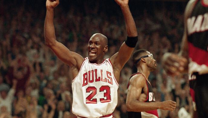 INSPIRASJONEN: Mentaliteten til Michael Jordan ble et stort tema i dokumentarserien «The Last Dance». Foto: John Swart / AP / NTB