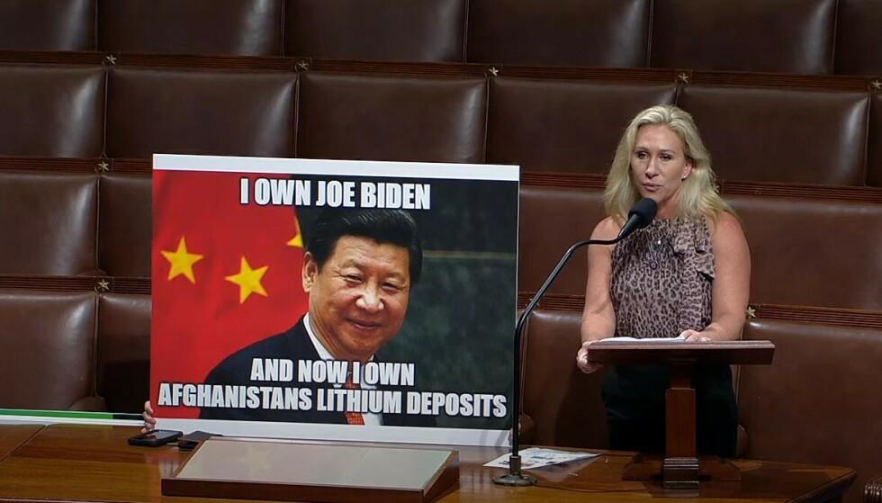 KINA: Det holdt ikke med bare ett meme for kongresskvinnen. Foto: C-SPAN