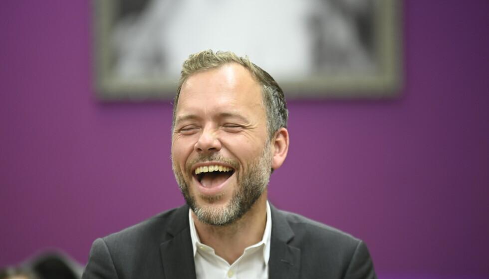 OFFENSIV: SV vil få avgjørende innflytelse i norsk politikk, selv om partiet ikke ender i regjering, slår SV-leder Audun Lysbakken fast. Foto: Annika Byrde / NTB