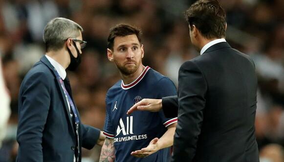 ISKALDT: Lionel Messi skal ikke ha vært fornøyd med å bli byttet ut for PSG. Foto: REUTERS/Benoit Tessier/File Photo