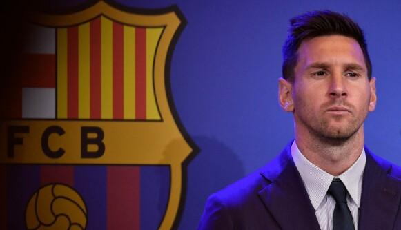 FARVEL: Lionel Messi måtte ta farvel med Barcelona i sommer. Foto: Pau BARRENA / AFP