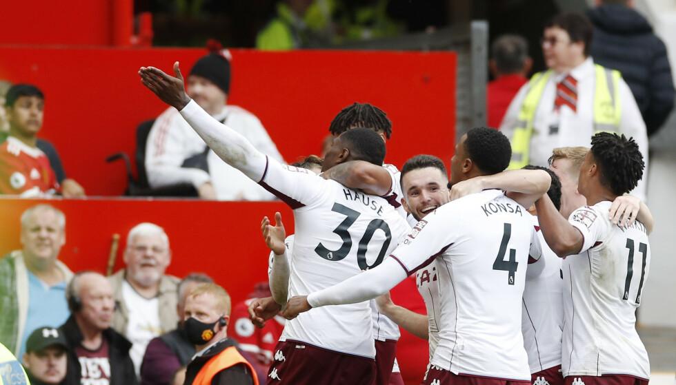 AVGJØRELSEN: Kourtney Hause stanget inn seiersmålet for Aston Villa. Foto: REUTERS/Phil Noble