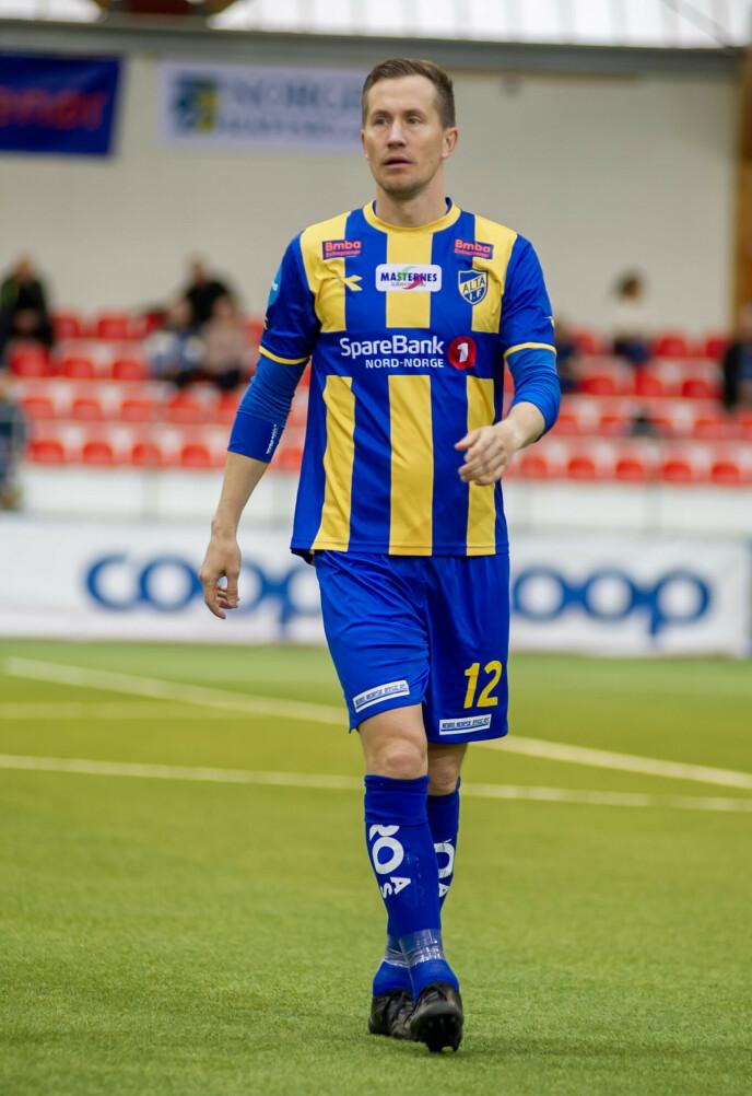 PROFIL: Morten Gamst Pedersen har en stor fotballkarriere bak seg med Blackburn som høydepunkt. Nå spiller han i 2.-divisjonsklubben Alta. Foto: Alta IF