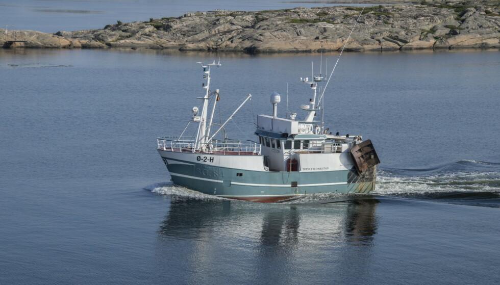 TRÅLER: Er trålfiske i Oslofjorden sertifisert som bærekraftig? Det spørsmålet skulle det vise seg å være vrient å svare på. Foto: Scanpix/Samfoto/Helge Sunde