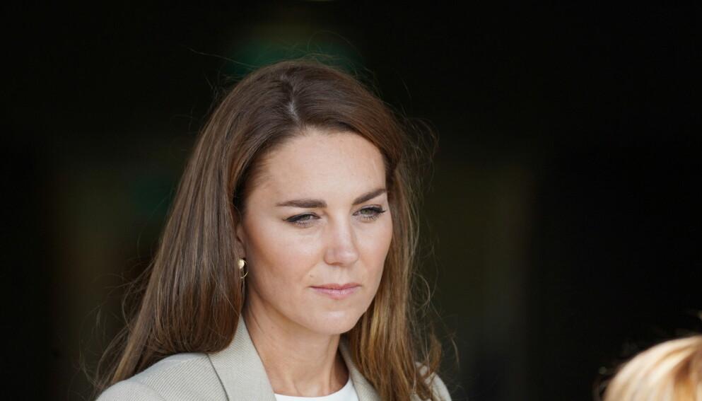 RYSTET: Hertuginne Kate delte en personlig melding på Twitter, etter at en kvinne ble funnet død forrige uke. Foto: Steve Parsons/Pool via REUTERS / NTB