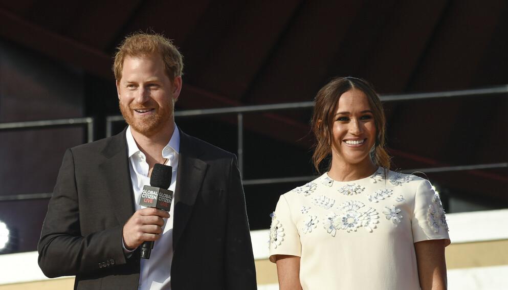 REFSES: Prins Harry og hertuginne Meghans seineste flytur får hard motstand. Her fra Global Citizen Live i helga. Foto: Evan Agostini / Invision / AP / NTB