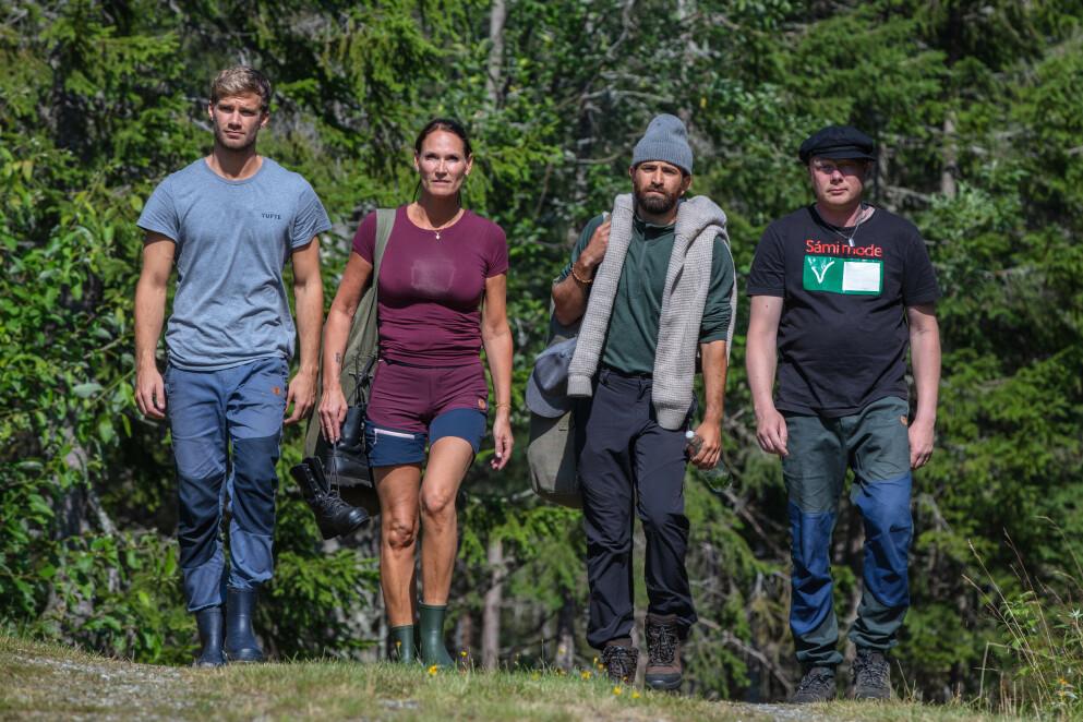 UTE: Dineke Polderman er ute av «Torpet» etter å ha tapt konkurransen mot Mohamed Sarmadawy (nummer tre fra venstre). Foto: Alex Iversen / TV 2