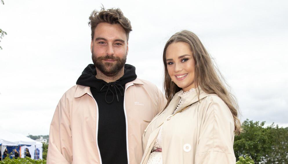 FORELDRE: Martin Danielle og forloveden Alexandra Backström ble foreldre for to år siden. Foto: Andreas Fadum / Se og Hør