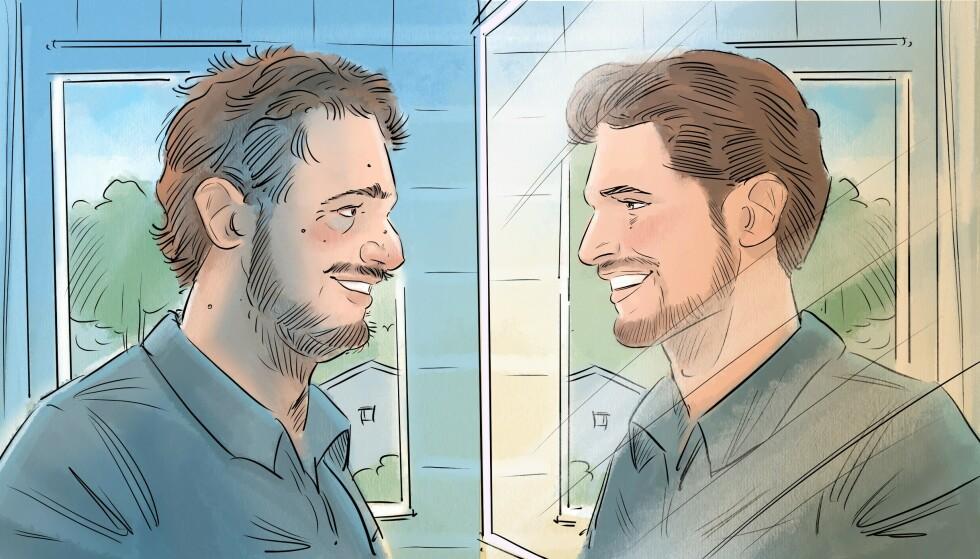HØY PÅ SEG SELV: Det er spesielt et par forhold du må ha tenkt gjennom hvis du omgås en med narsissistiske trekk. Illustrasjon: Fedor Sapegin