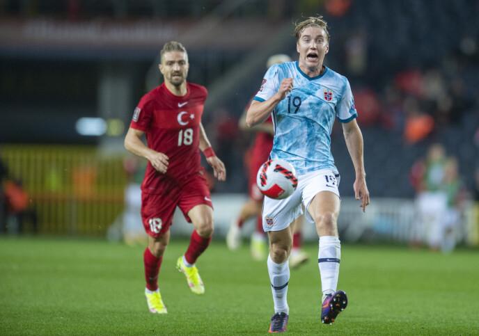 MÅLSCORER: Kristian Thorstvedt ble Norges eneste målscorer på Sükrü Saracoglu stadion. Foto: Annika Byrde / NTB