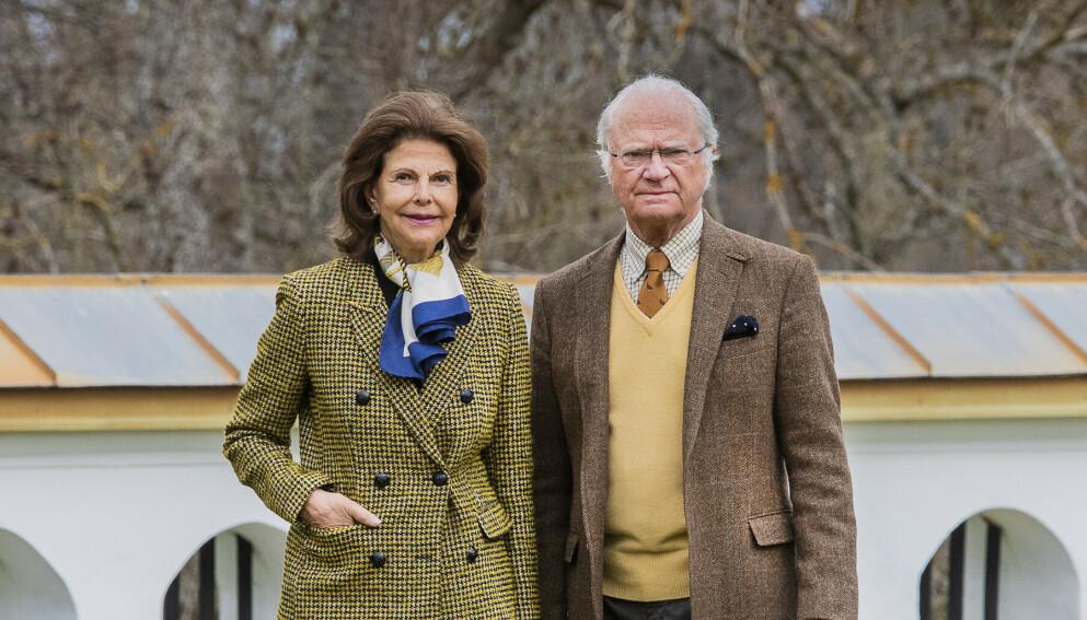 Dronning Silvia og kong Carl Gustaf avbildet i 2020. Foto: Foto: Jonas Ekströmer/TT / NTB