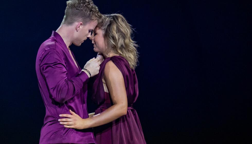 STERKT: Maren Lundby og Philip Raabe rørte alle med sin dans. Foto: Thomas Andersen / TV 2