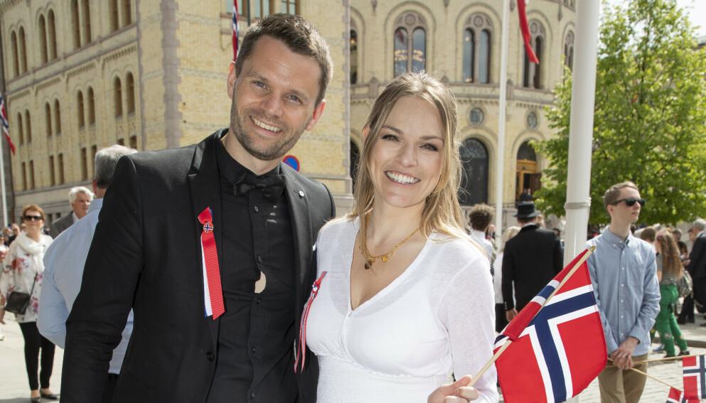TOBARNSFORELDRE: Anine Stang og Petter Tangmyr er stolte tobarnsforeldre. FOTO: Tore Skaar