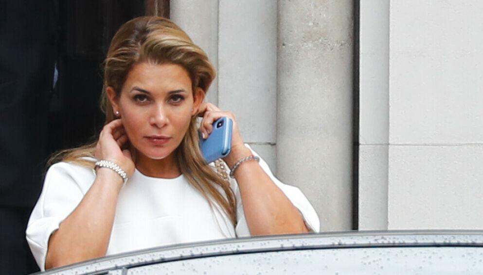 SKITTEN SKILSMISSE: Prinsesse Haya har de siste to åra vært på flukt fra eksmannen sjeik Mohammed bin Rashid al-Maktoum. Her utenfor retten i London i 2019. Foto: Tolga Akmen/AFP/NTB