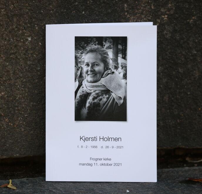 BISETTES MANDAG: Kjersti Holmen gikk bort 26. september. Foto: Andreas Fadum/Se og Hør