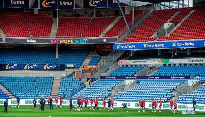 FYLLES OPP: Ullevaal stadion tar 27 200 tilskuere. I kveld vil det være fullsatt. Foto: Hans Arne Vedlog
