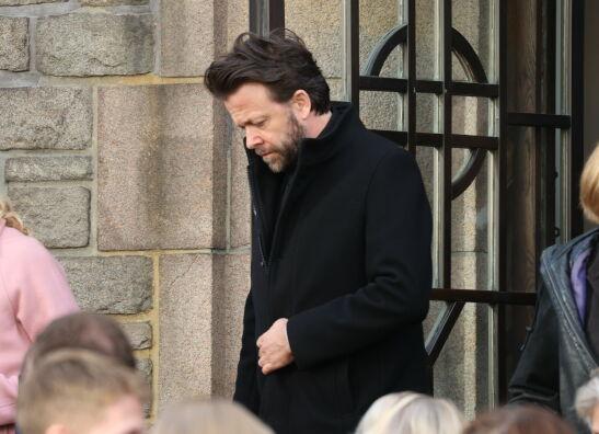 ETTER BISETTELSEN: Kåre Conradi var også til stede i Frogner kirke. Foto: Andreas Fadum/Se og Hør