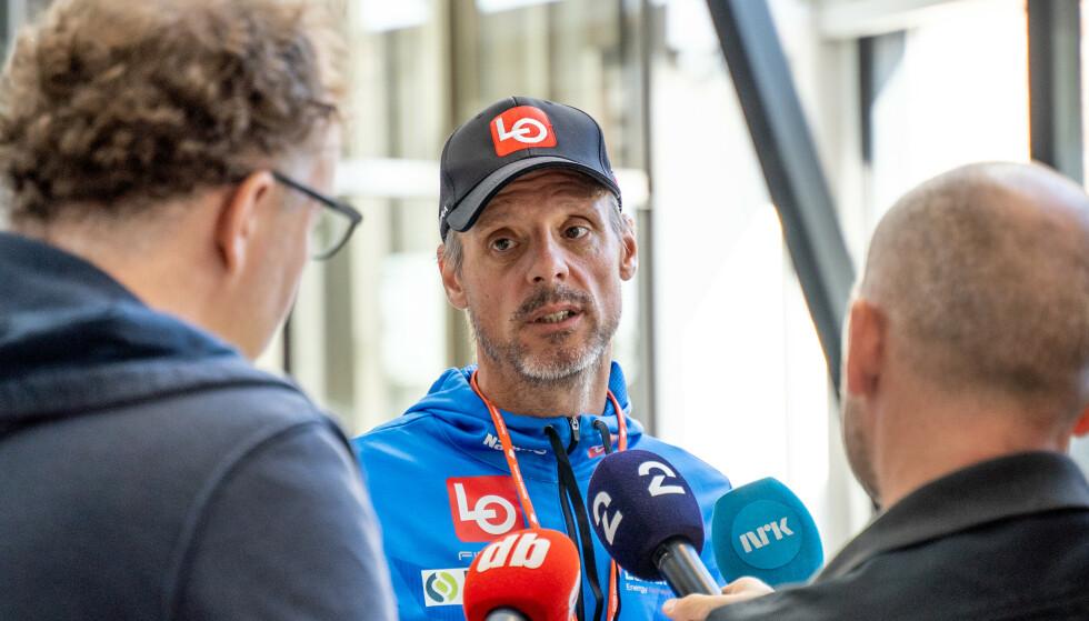 I SENTRUM: Alexander Stöckl etter et møte i forbindelse med konflikten mellom skiforbundet og Clas Brede Bråthen.Foto: Ali Zare / NTB