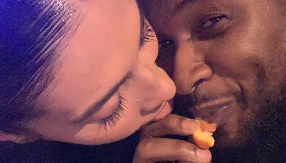 FORELDRE: Usher og kjæresten har fått sitt andre barn sammen. Foto: Skjermdump fra Instagram