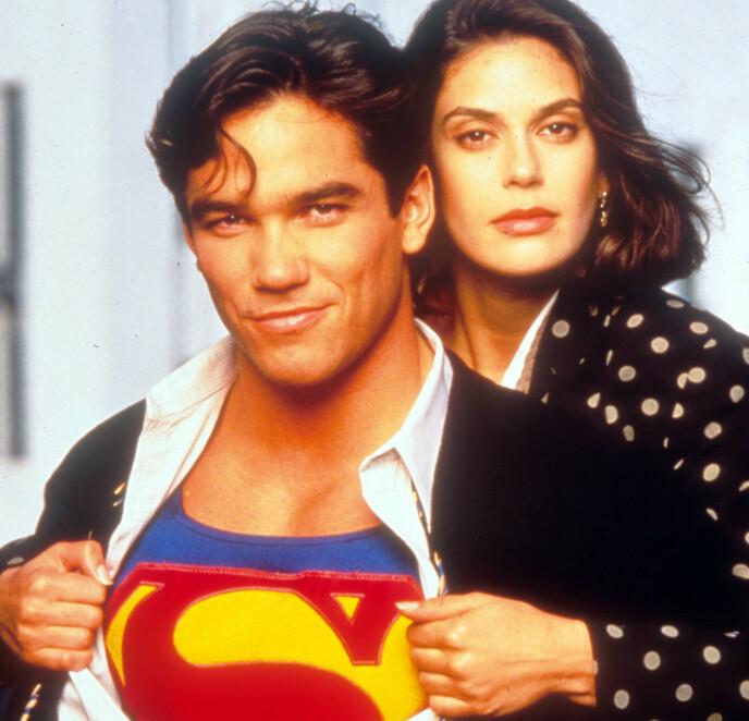 DEN GANG DA: Dean Cain og Teri Hatcher spilte Superman og Lois Loin TV-serien Lois and Clark. Foto: NTB.