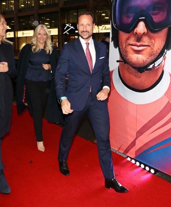 KRONPRINSPARET: Kronprins Haakon og kronprinsesse Mette-Marit gjestet også premieren. Foto: Andreas Fadum / Se og Hør