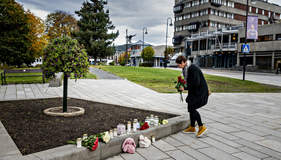 VISTE STØTTE: May-Britt Tjelta beskriver et lokalmiljø i sjokk etter tragedien som rammet onsdag. Foto: Bjørn Langsem / Dagbladet