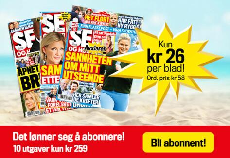 Abonner på Se og Hør: Betal kun kr 26 pr. blad (butikkpris kr 59,-)