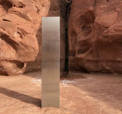 Image: Fant mystisk stolpe i ørkenen