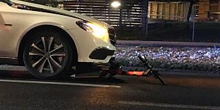 Image: Ulykke med elsparkesykkel