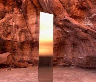 Image: Mystisk stolpe forsvunnet