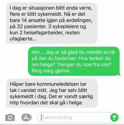 Image: Slår alarm: - Fare for liv