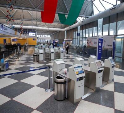 Image: Bodde på flyplass i tre måneder