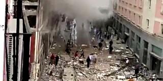 Image: Stor eksplosjon i Madrid