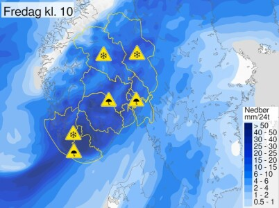 Image: Kan komme 40-50 cm snø