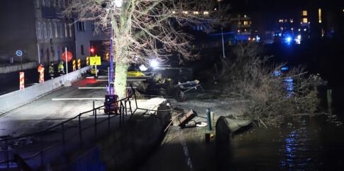 Image: 40 meter har rast ut i elva