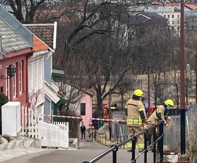 Image: Jordras i Oslo: - Husveggen knust