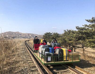 Image: Toget ut av Nord-Korea