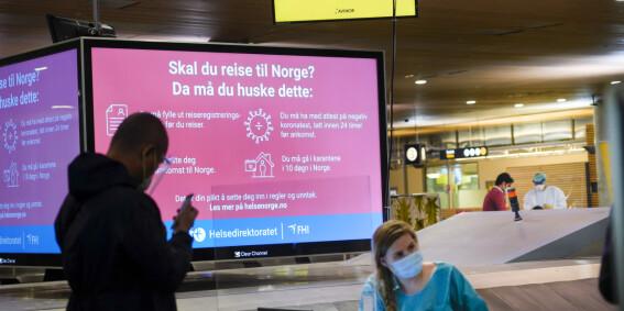 Image: Smittet mann tatt på Gardermoen