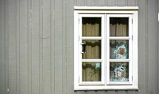 Image: Her avfyres skuddene mot boligen